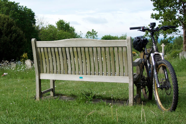 bike bench churchyard