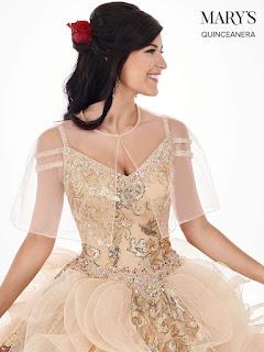 Cold shoulder Gold Color Ball Gown Dress Front Design