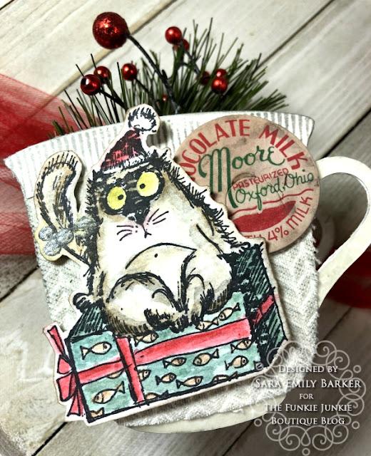 Sara Emily Barker https://sarascloset1.blogspot.com/2020/12/cozy-crazy-tea-cups-for-christmas.html  #eileenhull #3Dteacupandspoon #timholtz #snarkycatchristmas #sizzix #knitted3Dembossing 2