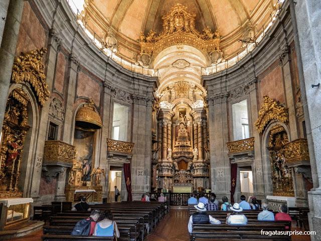 Interior da Igreja dos Clérigos, Porto, Portugal