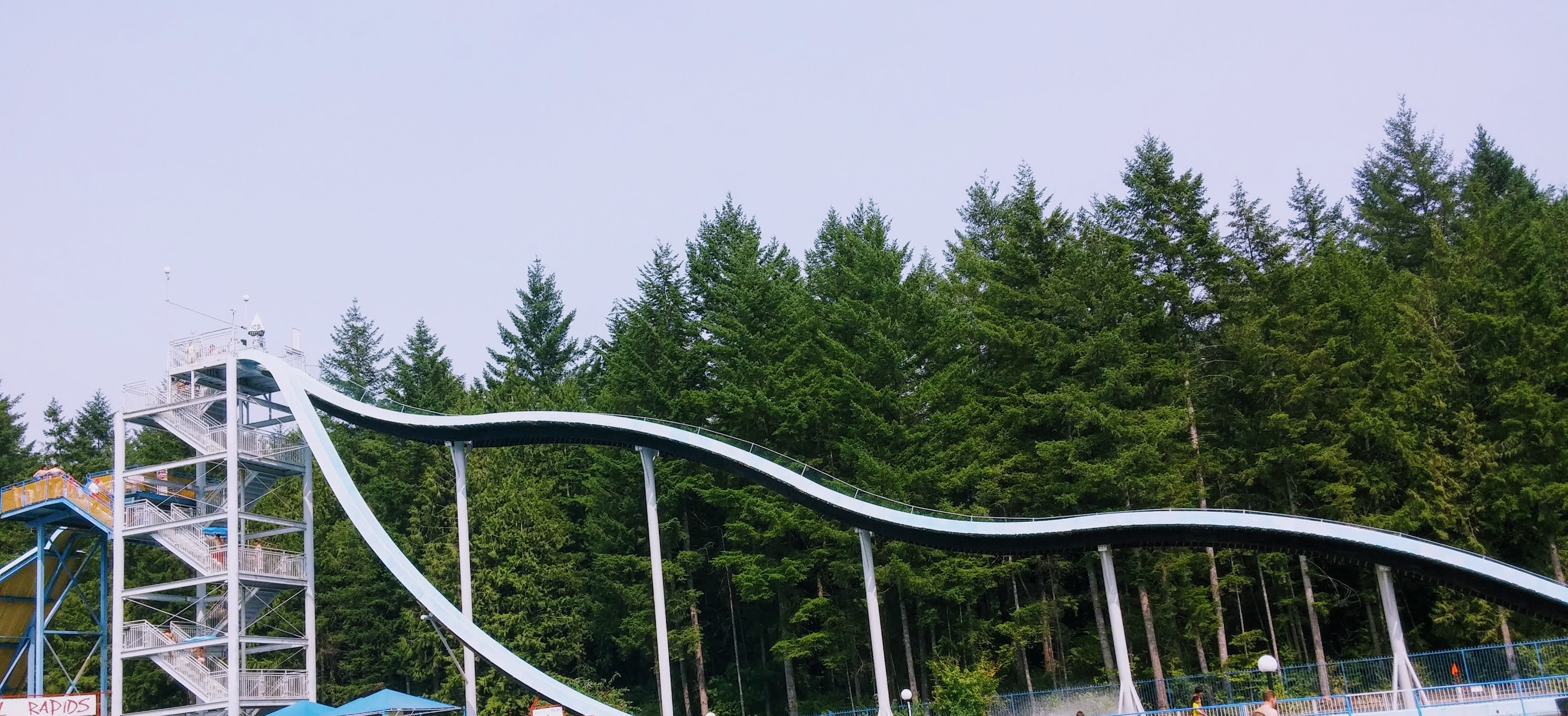 The Skinniest Slide In Cultus Lake Water Park.