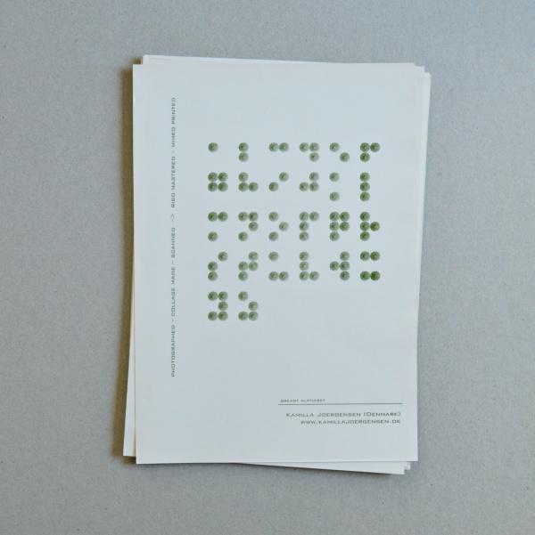I konkretdigttidsskriftet ToCall no. 11 har 17 digterer og billedkunstnere givet et bud på et alfabet.