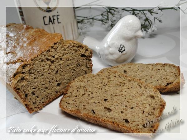 Pain cake sans gluten, farine de teff, coco et flocon d'avoine