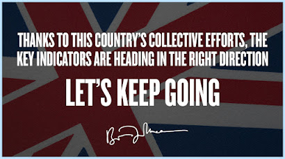 Heading in the right direction lets keep going over Union Jack flag
