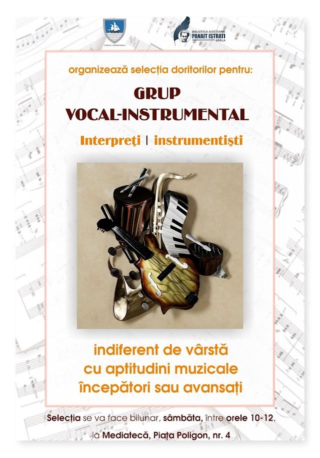 """Selecție de interpreți și instrumentiști pentru Grupul vocal - instrumental """"Note Mici"""""""