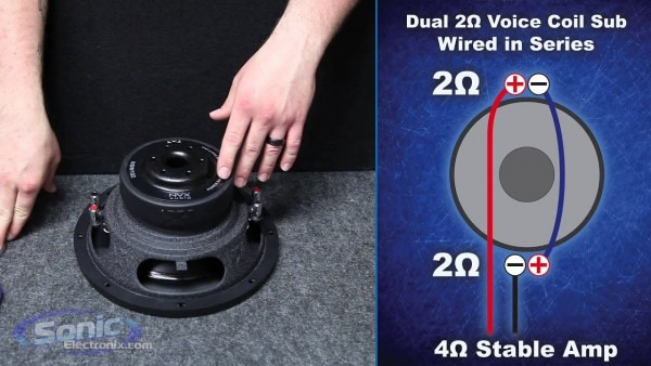 Wiring dual voice coil subwoofer