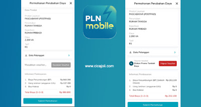Tambah daya di PLN Mobile