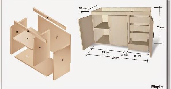 Plano de mueble de melamina proyecto 2 alacena de cocina for Como instalar una cocina integral pdf
