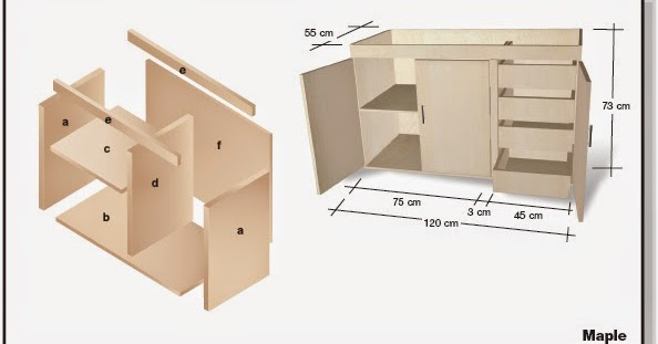 Plano de mueble de melamina proyecto 2 alacena de cocina for Muebles de carton pdf