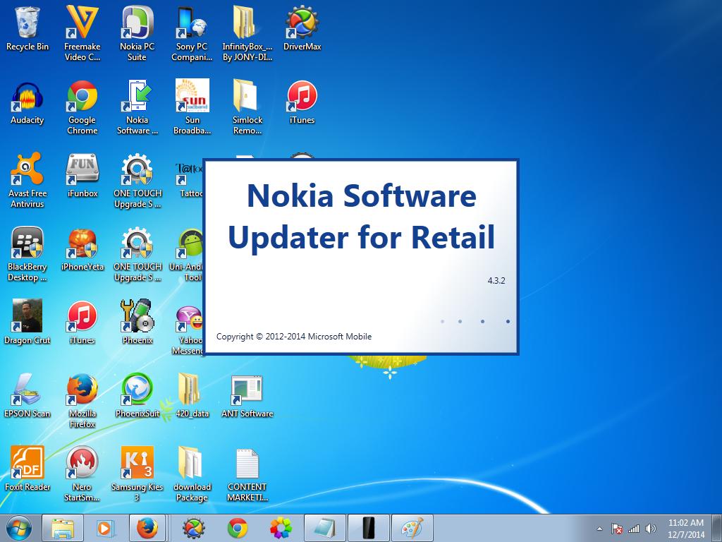 Nokia window phones software updater and firmwares download.