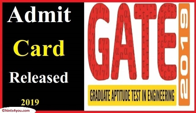 The Gate 2019 Exam will be held on February 2, 3, 9 and 10.