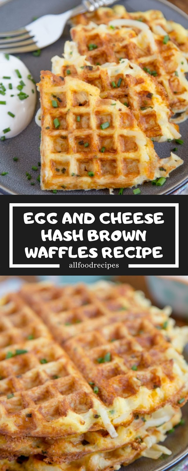 EGG AND CHEESE HASH BROWN WAFFLES RECIPE