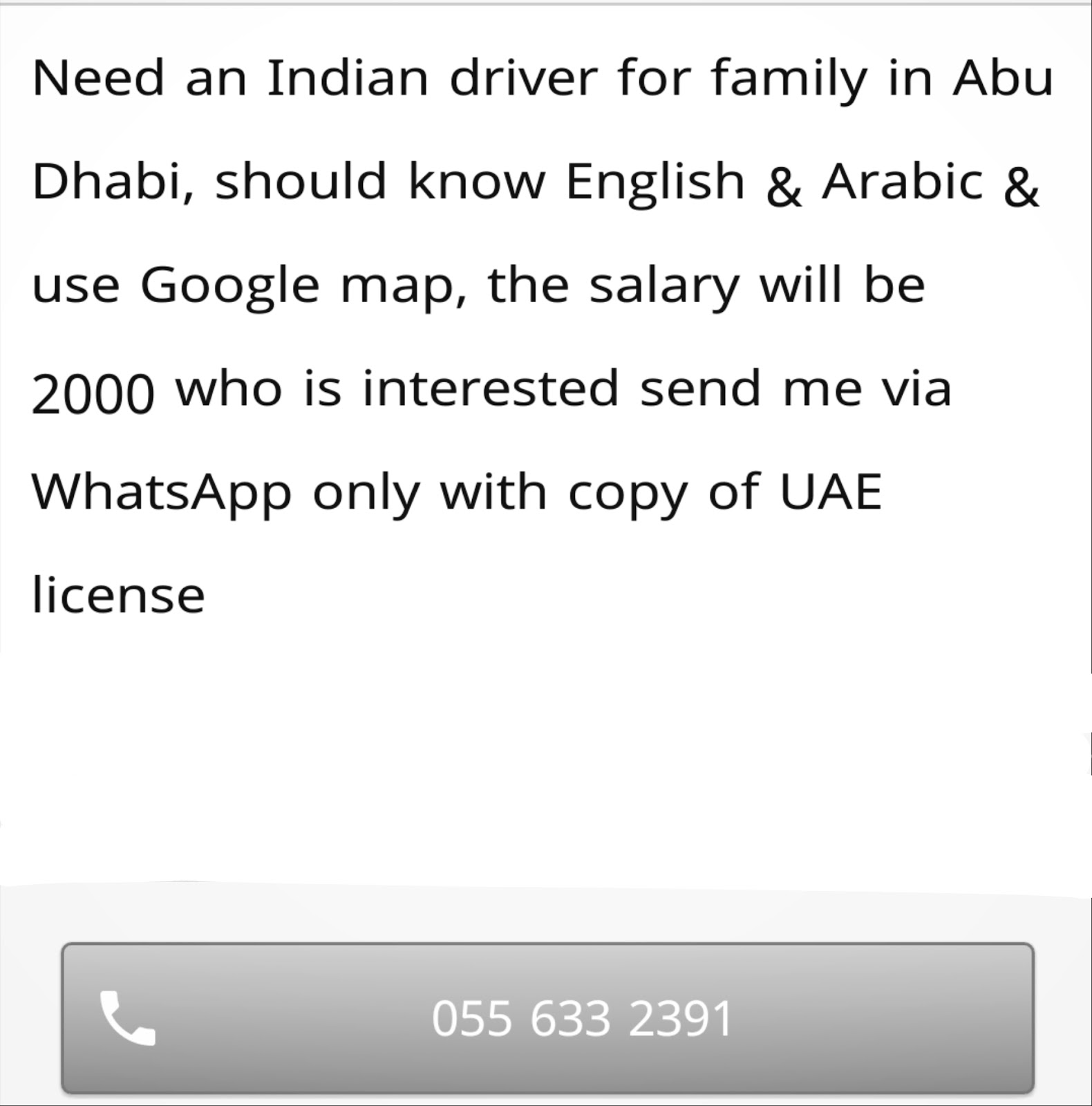 Driver Jobs in Dubai on google engineer, google hotels, google airlines, google media, google marketing, google id,