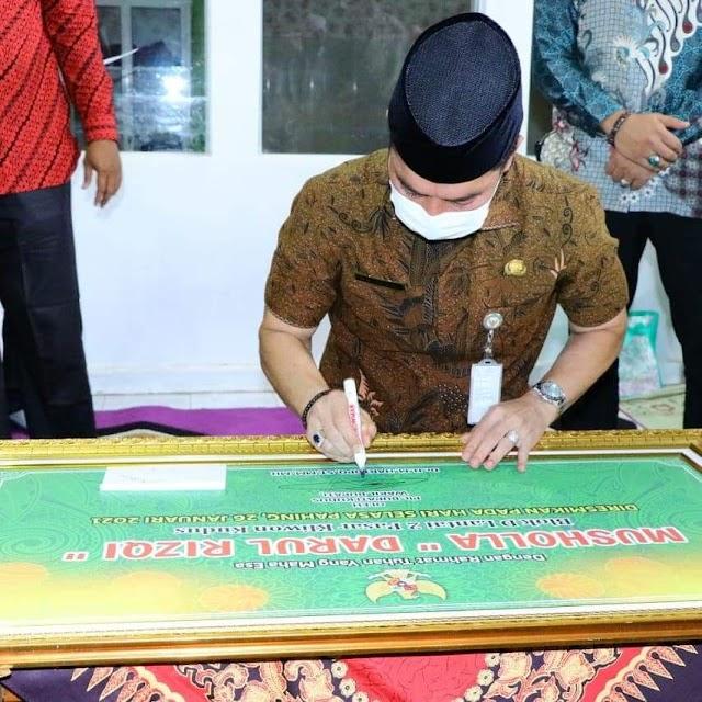 Musholla Darul Rizqi Pasar Kliwon Ditengah Hiruk Pikuk Roda Ekonomi Diresmikan Plt. Bupati Kudus