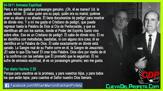 La Sangre real de su Padre corre en él - William Branham en Español