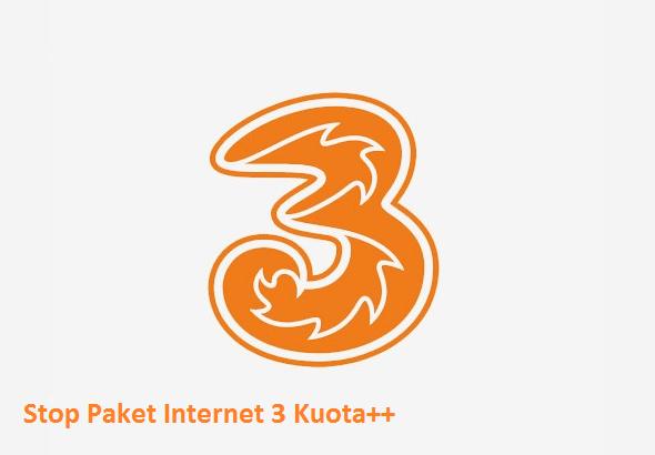 cara berhenti paket internet 3 100mb