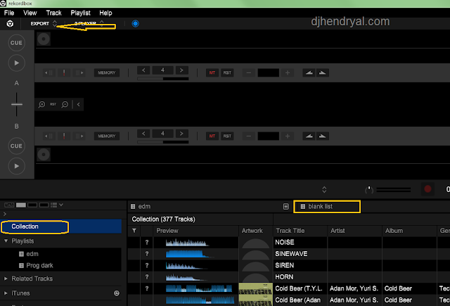 Cara gunakan rekordbox 6 gratis untuk bikin playlist