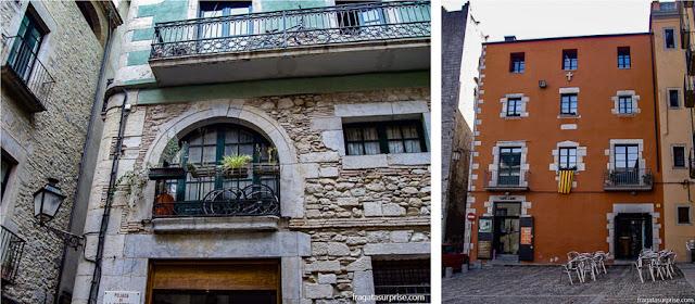 El Call, bairro judeu medieval de Girona, Catalunha