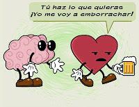 memes humor alcohol cerebro corazon