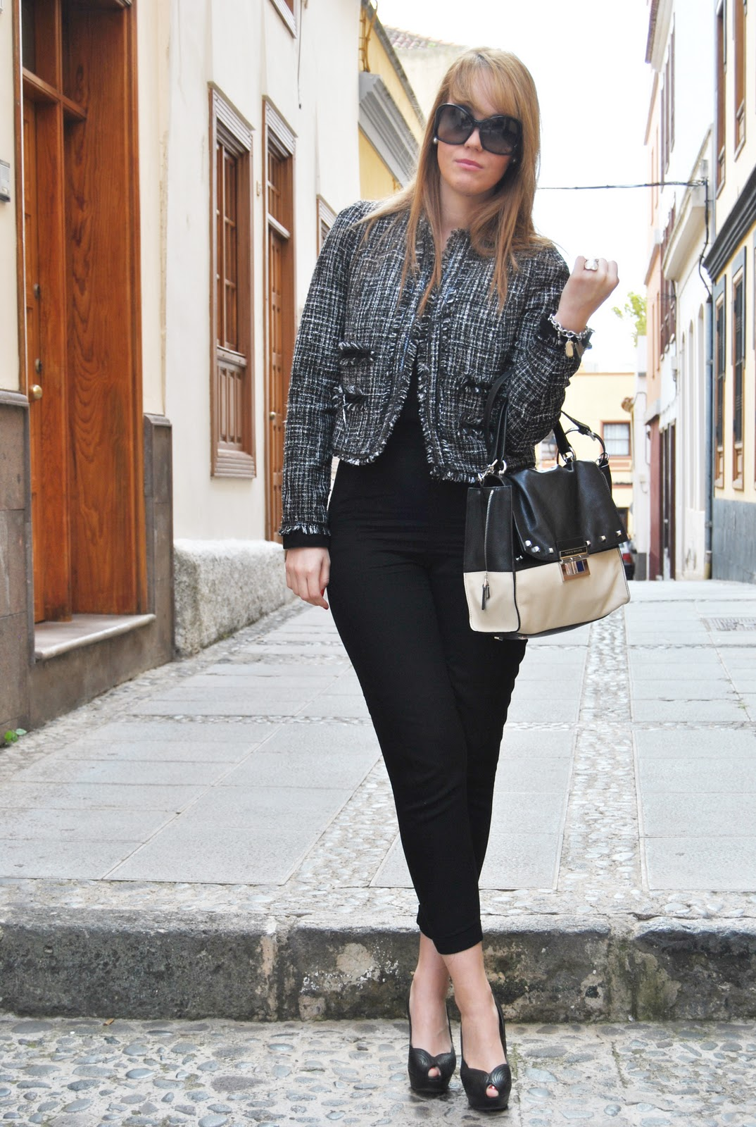 nery hdez, tweed, chanel inspiration tweed, karen millen bag