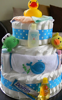 Bath Time Diaper Cake, Over The Apple Tree