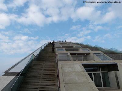 Dockland und blauer Himmel