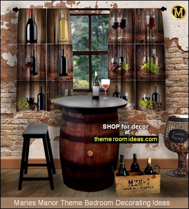 wine grapes tuscan style rustic vineyard dining grapes cellar wine tuscany barrel home decor cellar
