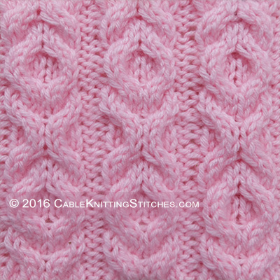 Hugs And Kisses Pattern 1 Cable Knitting Stitches