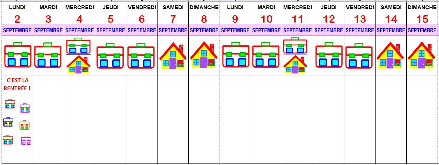 Calendrier Scolaire 2019 2020 Excel.La Petite Ecole Dans La Prairie La Maternelle De