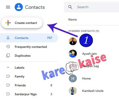 create-contact-button-par-click-kare