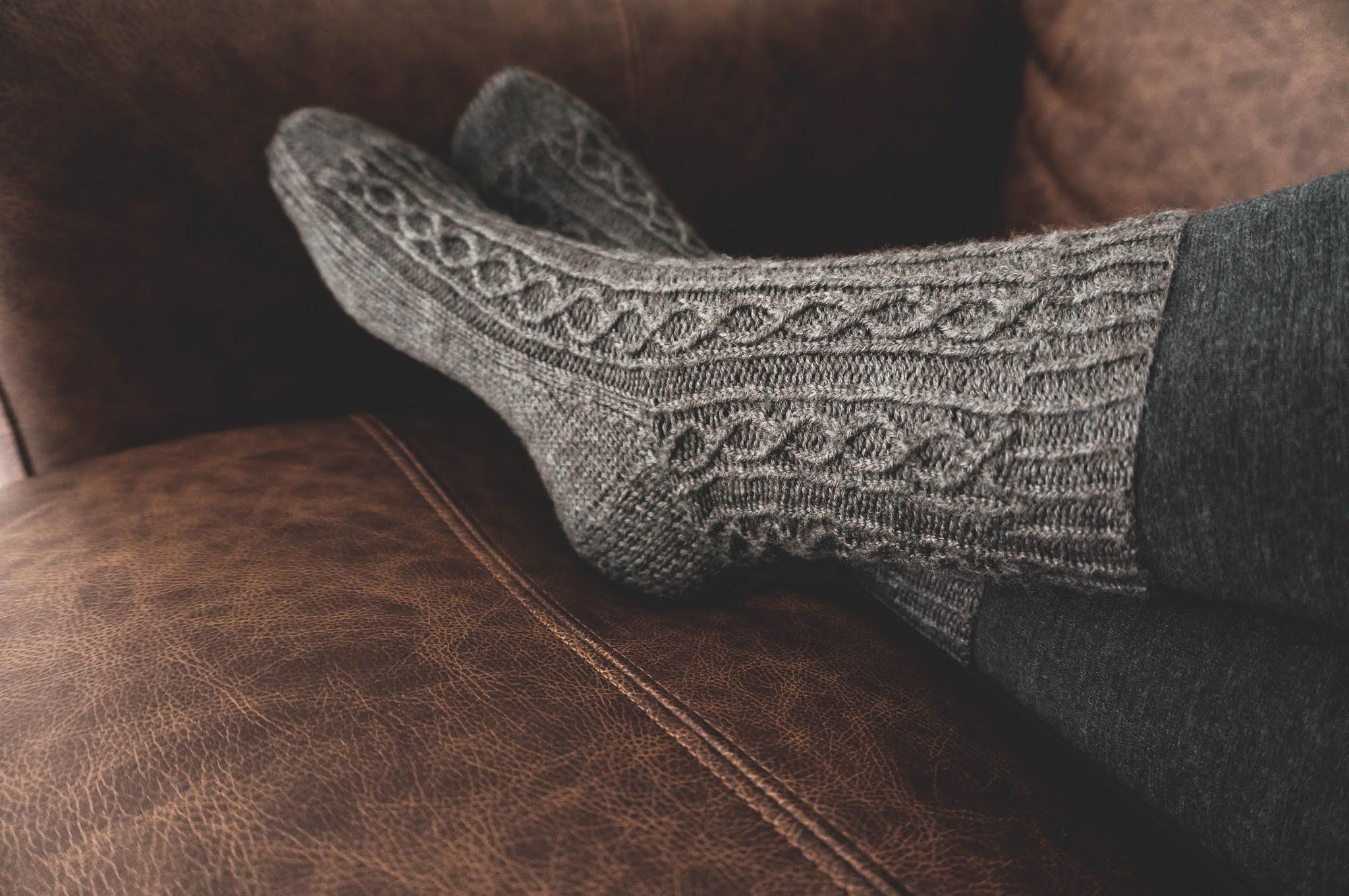 Fleetwood Socks knitting pattern by West Beach Knits