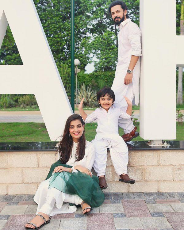 Bilal and Uroosa Qureshi Celebrating Jashan-e-Azaadi