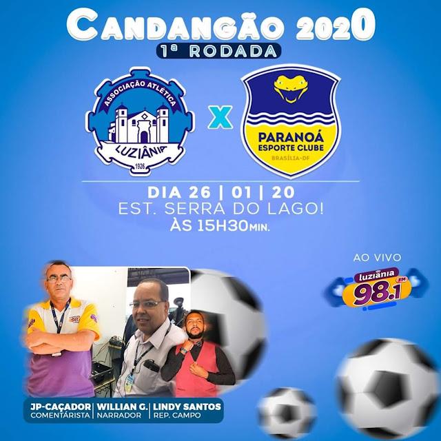 Willian Gonçalves narra jogo do Luziânia pelo Candangão 2020