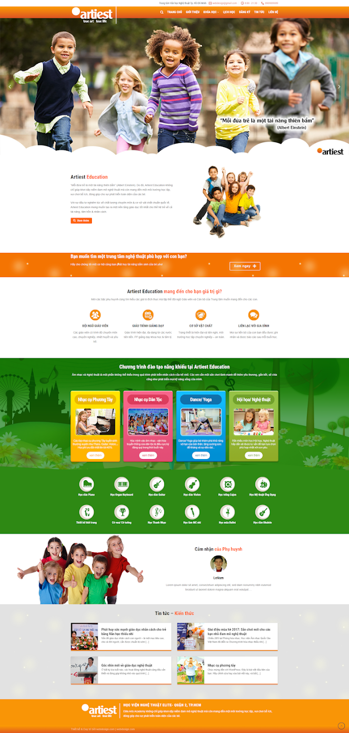 Mẫu website Mầm Non Đẹp