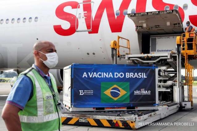 Brasil Sebut Kemanjuran Vaksin Sinovac Buatan China cuma 50,4 Persen