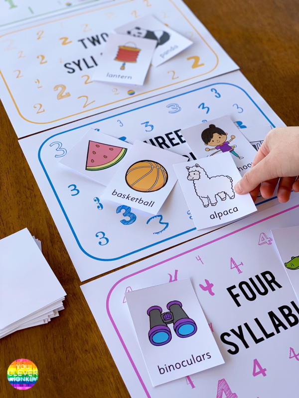 Syllable Sorting Mats | you clever monkey