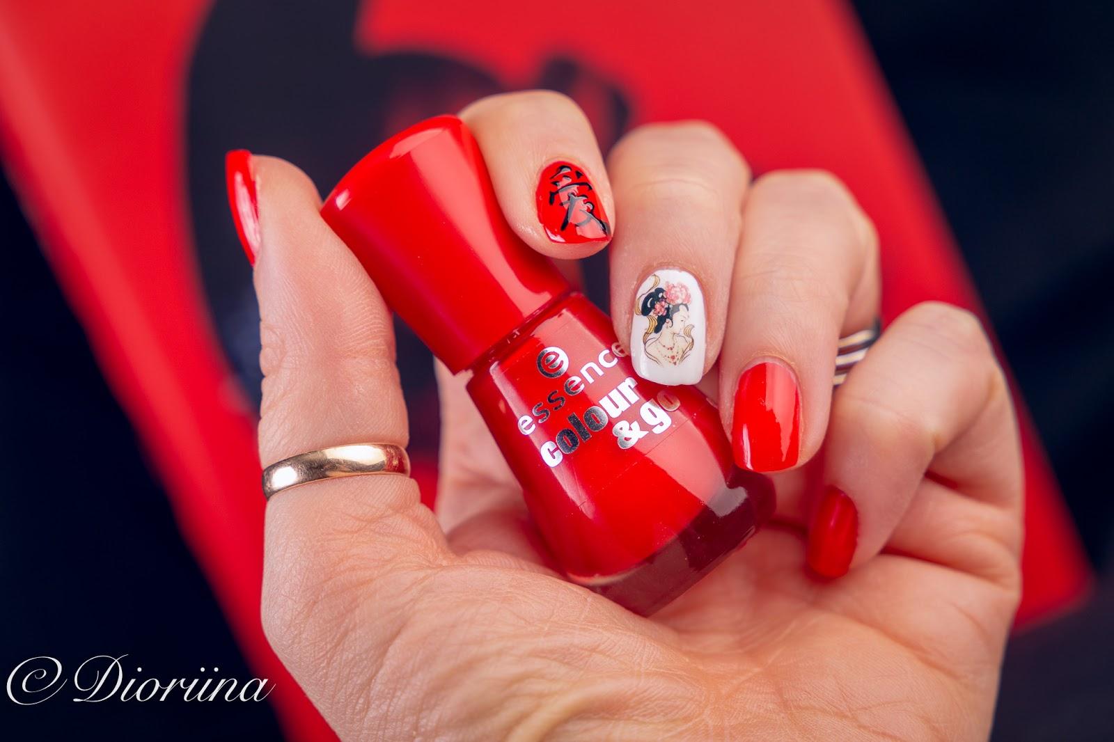 upea punainen kynsilakka