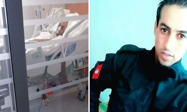 """تونس : وفاة الأمني ياسين اليحياوي الذي أصيب """"بضربة شمس"""" أثناء أدائه لمهامه"""