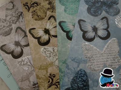 set farfalle decorative in carta
