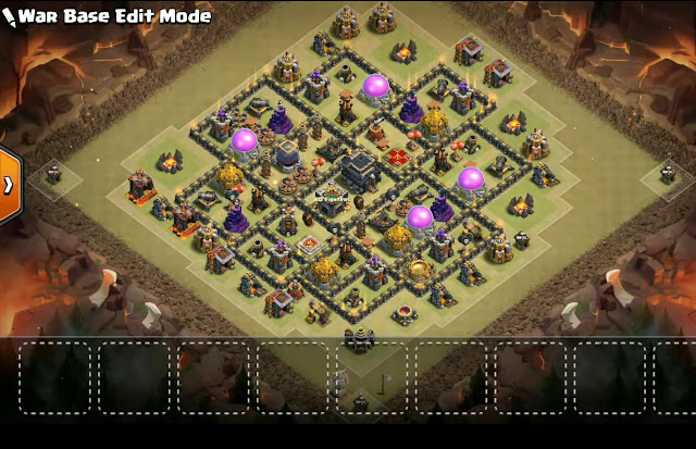 Best Th9 War Base 2017 With Bomb Tower Anti Everything Anti Valkyrie Anti 2 Star