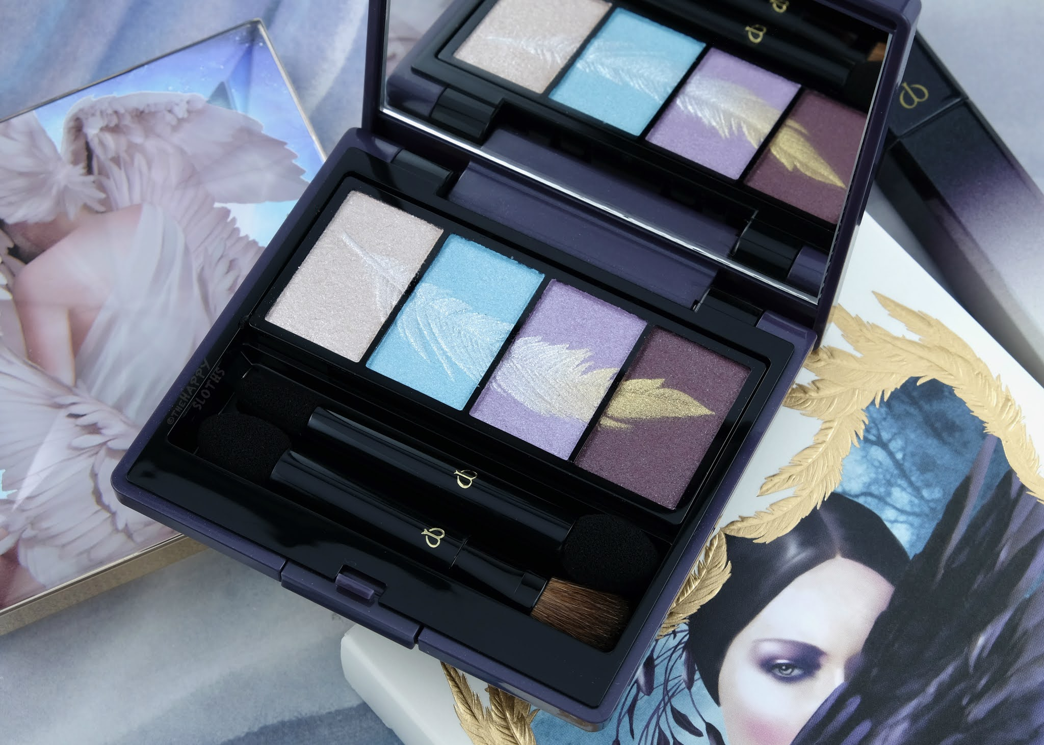 "Clé de Peau Beauté | Holiday 2020 Eye Color Quad in ""321 Magnificent Plumage"": Review and Swatches"
