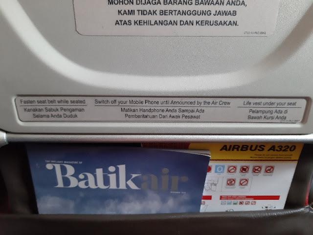Pengalaman Batik Air Jakarta-Labuan Bajo