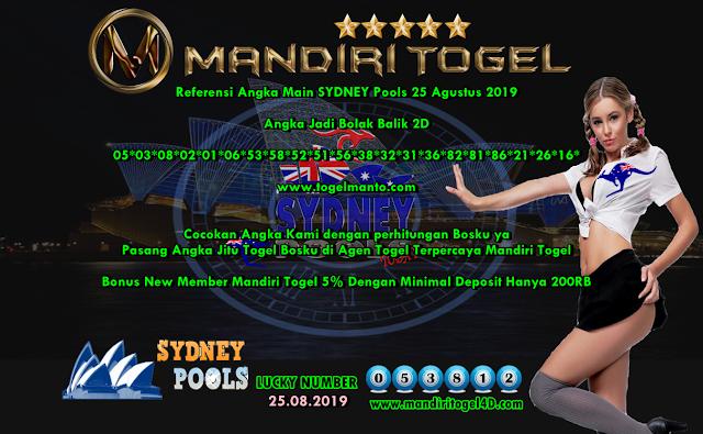 Prediksi Lucky Number Togel Sydney Mandiri Togel 25 Agustus 2019