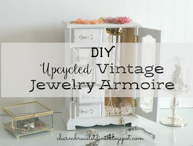jewelry armoire, upcycle, Dixie Bell chalk mineral paint,