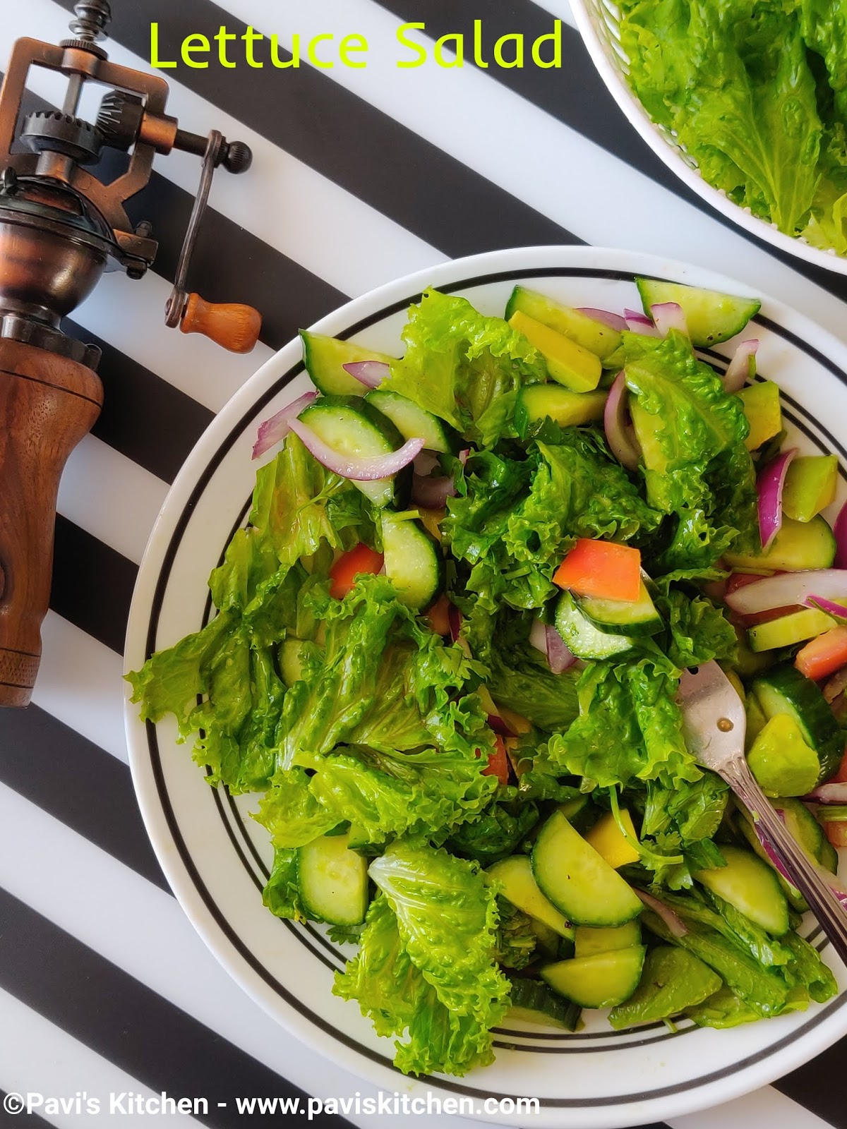 Green Leaf Lettuce Salad Recipe | Lettuce Salad Recipe
