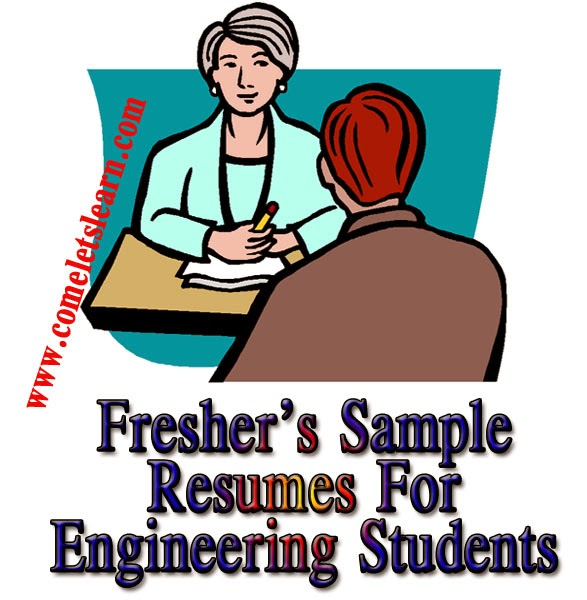 Engineering Students Samples Resume Format And Curriculum Vitae For