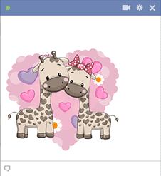 Giraffe Love Image