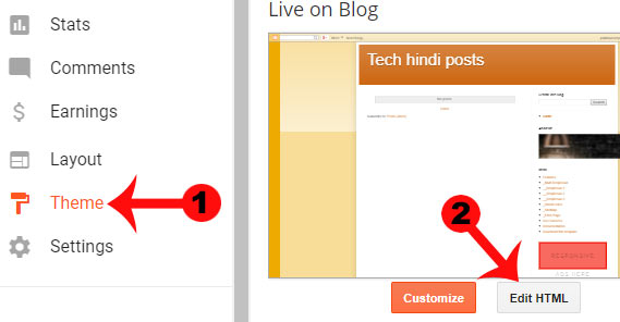 blogger me powered blogger ko hide kaise kare