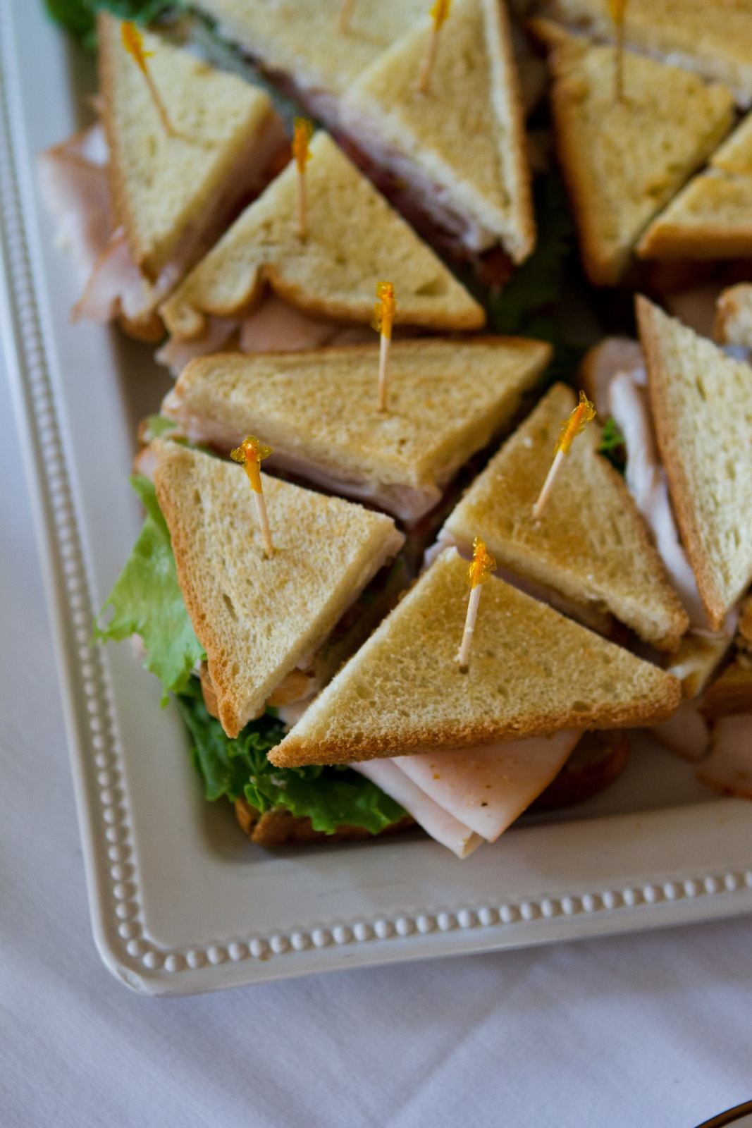 Wedding Brunch Reception - Turkey Club Sandwiches - Photo Courtesy of Brian Samuels Photography