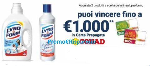 Promo risparmio lysoform 39 39 tesoro di casa vinci carte for Punto casa volantino